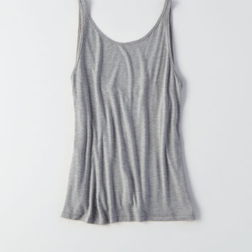 AEO Soft & Sexy Low-Back Tank, Gray Heather