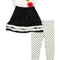 Kids' | Baby Girls 12-24 Months | Baby Girls Peplum Top and Leggings Two-Piece Set | Lord and Taylor