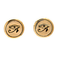 The Eye of Ra Stud Earring in Gold