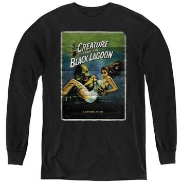 Creature from the Black Lagoon Kids Long Sleeve Movie Poster Black