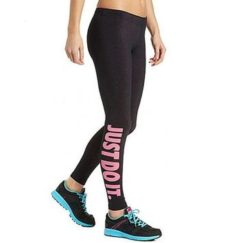 Just Do It Compression Workout Leggings