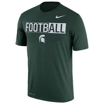 NWT Men's Nike Michigan State Spartans Dri-FIT Football Tee -Size XL & Large