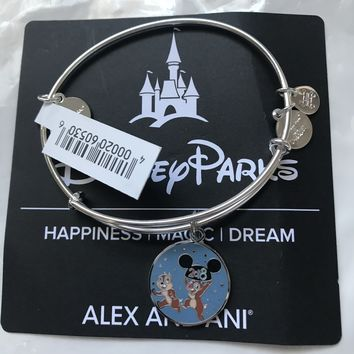 Disney Chip 'n Dale 2018 Bangle by Alex and Ani Silver Finish New