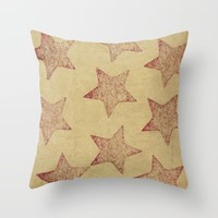 Star Throw Pillow by Sinonelineman