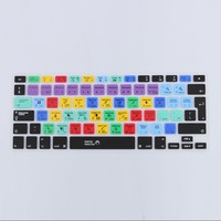 New US EU Version European Silicone Keyboard Cover for Macbook Air Pro 13 15 17 Adobe Premiere Design Shortcut Skin Laptop Cover