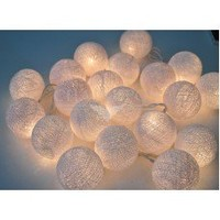 White Cotton Balls String Lights