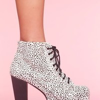 Lita Platform Boot - Snow Leopard in What's New at Nasty Gal