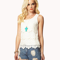 Crocheted Lace Tank