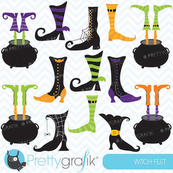 witch feet clipart, commercial use, vector graphics, digital clip art, digital images - CL552