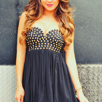 RESTOCK: Rock Star Dress: Black | Hope's