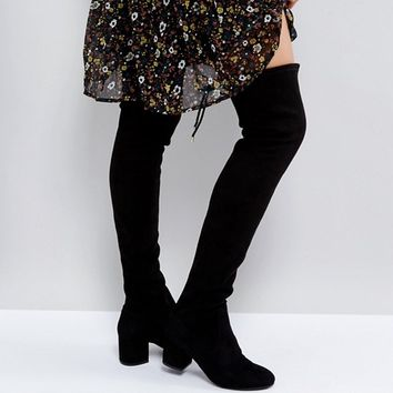 Head Over Heels Salsa Black Over The Knee Boots at asos.com