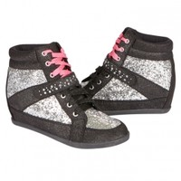 GLITTER WEDGE SNEAKERS | GIRLS SNEAKERS SHOES | SHOP JUSTICE