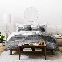 Allyson Johnson Horses Grazing Duvet Cover