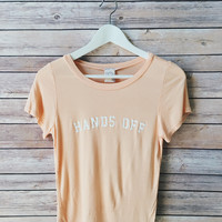 Hands Off Pastel Tee (Peach)