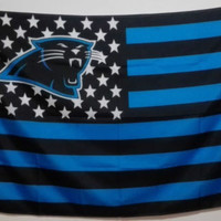 Carolina Panthers Flag With Star and Stripe (3x5FT)