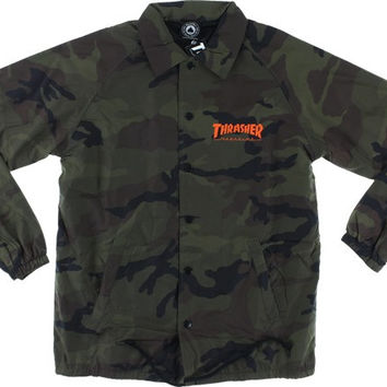 Thrasher Skategoat Coach Jacket Small Camo