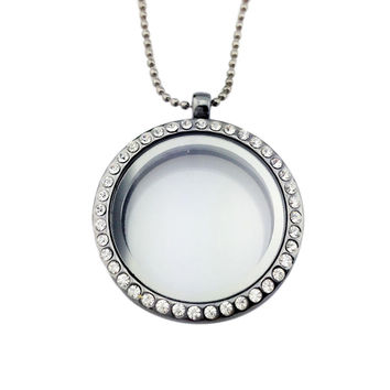 Can Open Memory Living Magnet Glass Floating Locket Pendant Necklace For Women Fine Jewelry S 4 Colors Women Necklace SM6