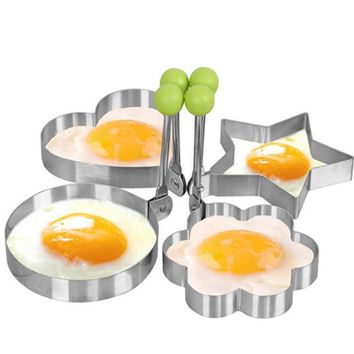 Hot Stainless Steel Fried Egg Shaper Household Pancake Mould Mold Kitchen Cooking Tools Egg Tools Model