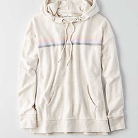 AEO Cowl Neck Hoodie , Heather Frost