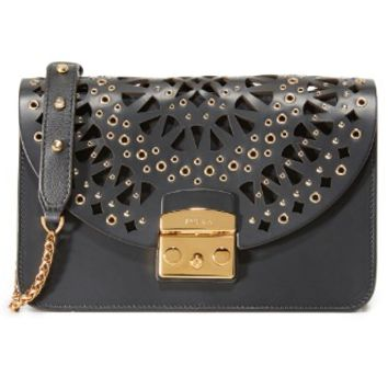 Eyelet Metropolis Shoulder Bag