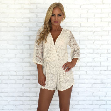 Eye On The Prize Lace Romper
