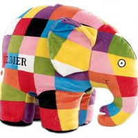 Elmer the Patchwork Elephant Large Plush by Kids Preferred