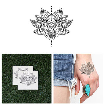 Lotus Eater - Temporary Tattoo (Set of 2)