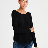 AE Soft & Sexy Long Sleeve T-Shirt, True Black