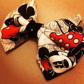 Mickey Mouse Disney Fabric Bow