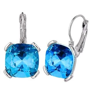 Square Crystal Ear buckle Earrings For Women