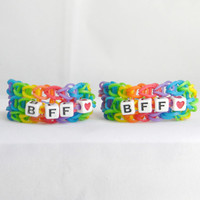 Best Friends Bracelets,  Loom Band Bracelets, Rubber Band Bracelets, BFF Bracelets