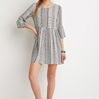 Tribal Print Smock Dress