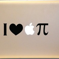 I Heart Apple Pie Macbook Decal Vinyl Sticker for Mac Laptop