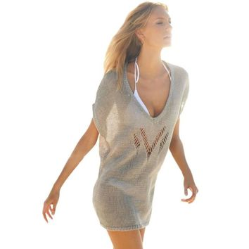Casual knitted dress women beachwear 2017 best selling products see through sexy summer sundresses online shop clothing H42173