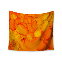 "Claire Day ""Yellow"" Orange Wall Tapestry"