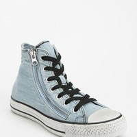 Converse Chuck Taylor All Star Denim Zip Women's High-Top Sneaker - Urban Outfitters