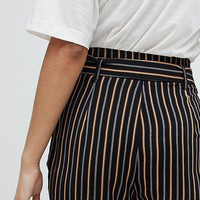 New Look Stripe Tapered Pants at asos.com