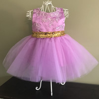 """The """"Lani"""" CUSTOM Lace and Sequin Bow Dress - That Girl Couture Collection"""