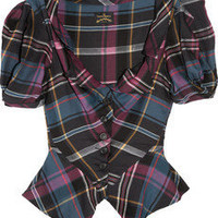 Vivienne Westwood Anglomania | Poppy tartan twill blouse | NET-A-PORTER.COM