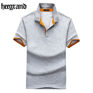 HEE GRAND 2017 High Quality Summer Man Casual Polo O-Neck Shirt Fashion M~4XL Men Short Sleeve Polo Shirts MTP398