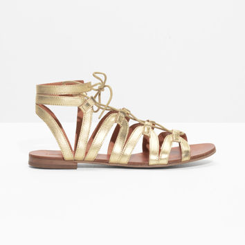 Lacing Sandals - Gold - Flats - & Other Stories US
