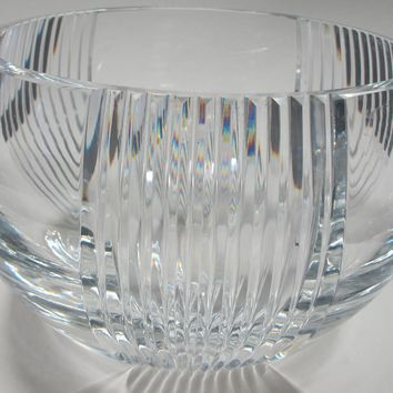Signed Lenox Cut glass Triumph bowl Crystal  Made in USA