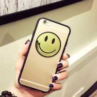 Fashion Clear Smile Face Phone Case For Iphone 6 6s plus