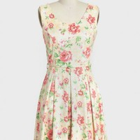 enchanting garden printed dress at ShopRuche.com