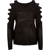 PRETTY REBELLIOUS Womens Cold Shoulder Sweater 202835100   Sweaters & Cardigans   Tillys.com