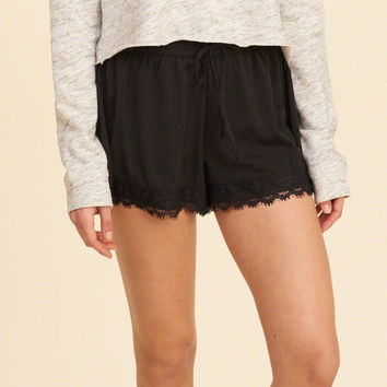 Girls Lace Hem Satin Shorts | Girls New Arrivals | HollisterCo.com