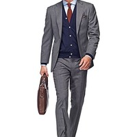 Suit Grey Plain Napoli P3711i | Suitsupply Online Store
