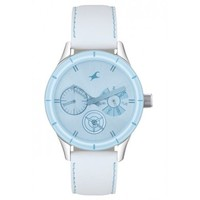 Fastrack 6078sl08 White Leather Analog Women Watch