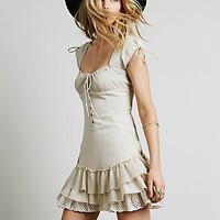 Free People Womens Sweetly Be Dress - Stone