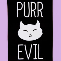 """Purr Evil"" Cat Sticker"